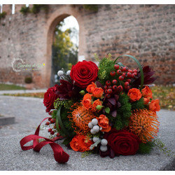 Bouquet autunnale rosso e...
