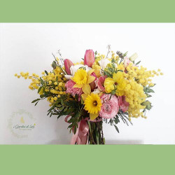 Bouquet con Mimosa 8 Marzo